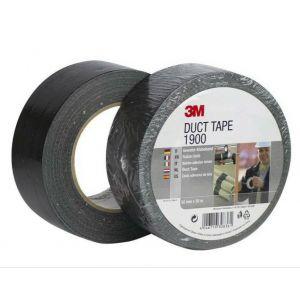 3M 1900 Υφασμάτινη Ταινία Duct Μαύρη 50mmX50m