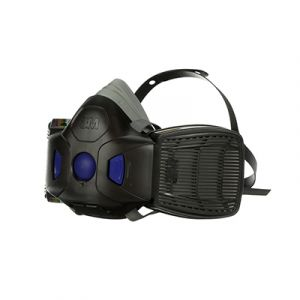 3M Secure Click Half Mask Reusable Respirator with Speaking Diaphragm HF-802SD Medium
