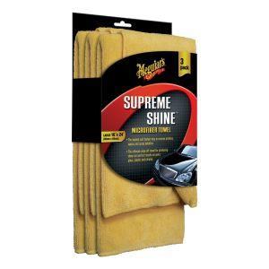 Meguiars Supreme Shine Microfibre Towel 3 / Pack 80% Polyester-20% Polyamide